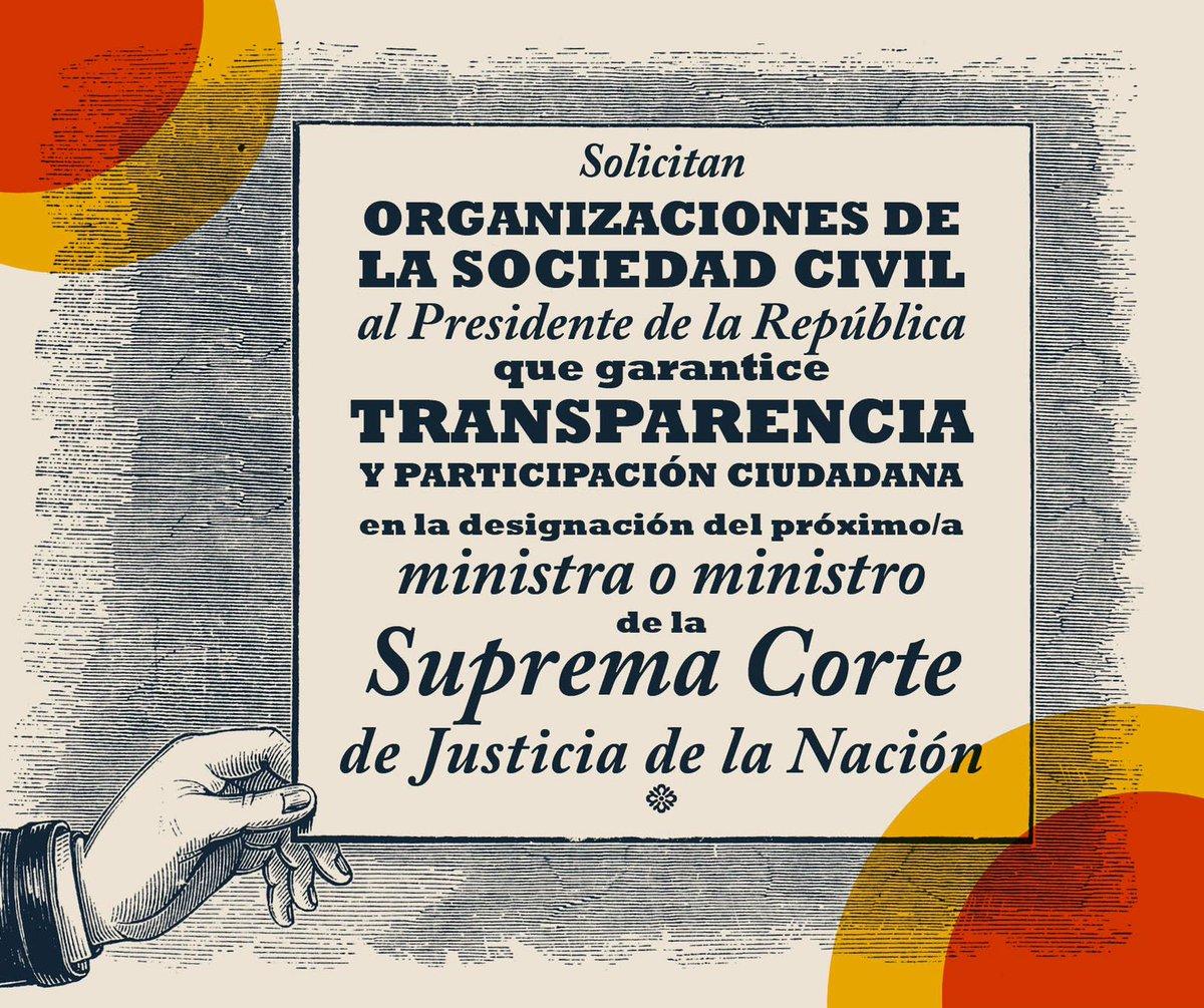 Propuesta de organizaciones de la sociedad civil para incorporar un mecanismo de participación ciudadana en el proceso de designación del o la ministra de la Suprema Corte de Justicia de la Nación.