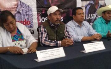 Nahuatzen. En defensa de la autonomía  y por la libertad de los presos políticos.