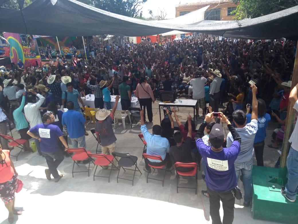 Misión Civil de Observación de DH atestigua ejercicio del derecho a la libre autodeterminación en Amilcingo