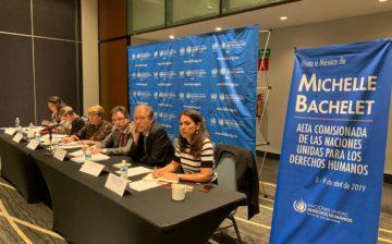 Michelle Bachelet, Alta Comisionada de Naciones Unidas para los Derechos Humanos, visita México