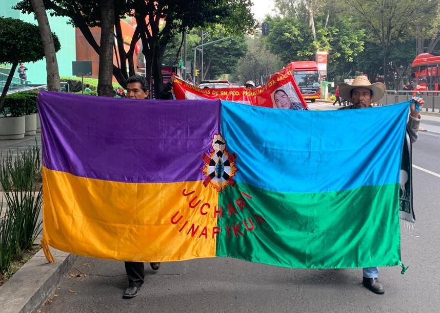 El Consejo Ciudadano Indígena de Nahuatzen se encuentra en la CDMX exigiendo justicia y libertad