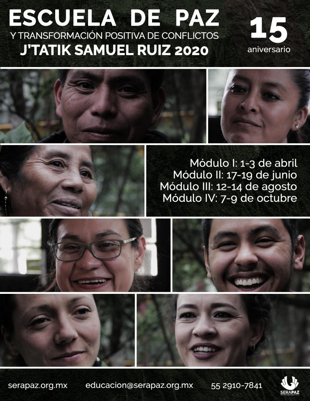 Escuela de Paz Nacional J'Tatik Samuel Ruiz, 2020